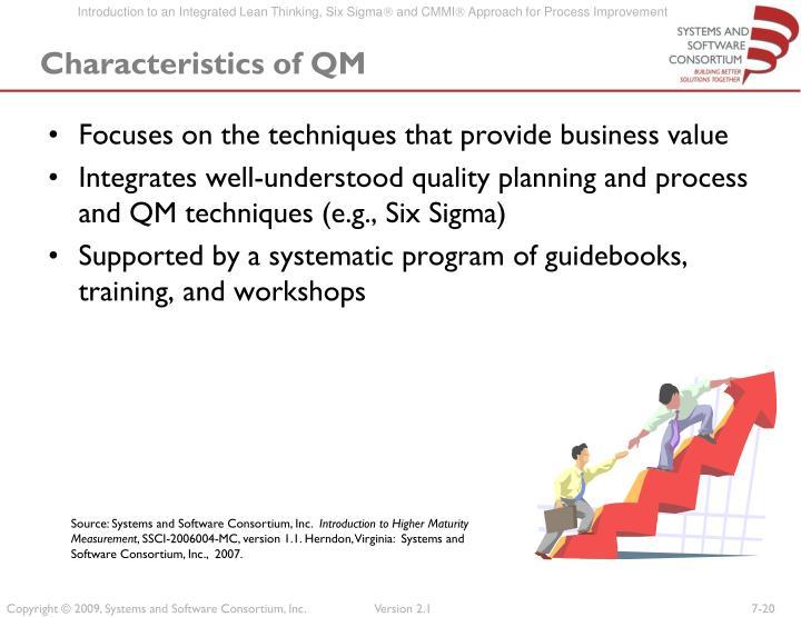 Characteristics of QM