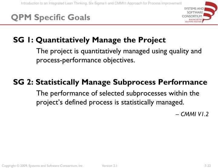 QPM Specific Goals