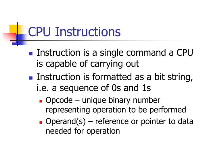 CPU Instructions