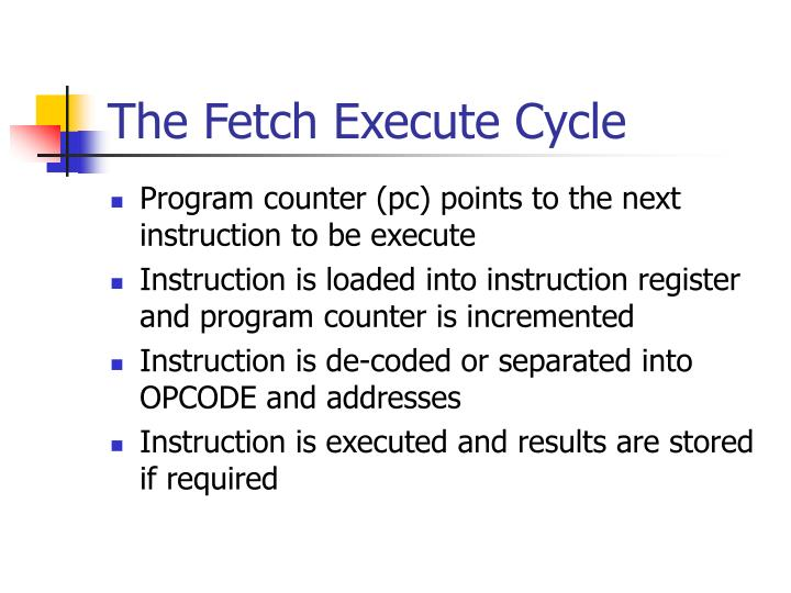 The Fetch Execute Cycle