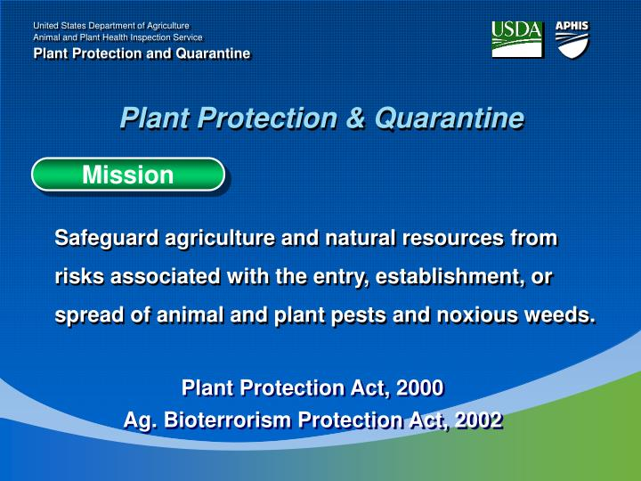 Plant Protection & Quarantine