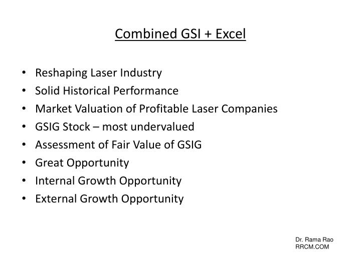 Combined GSI + Excel
