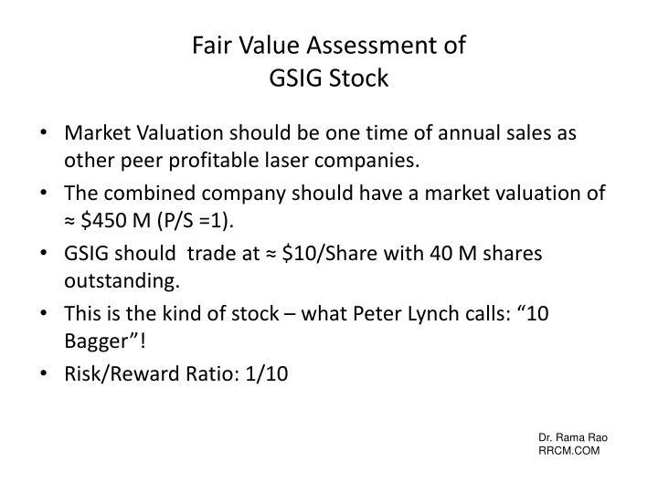 Fair Value Assessment of