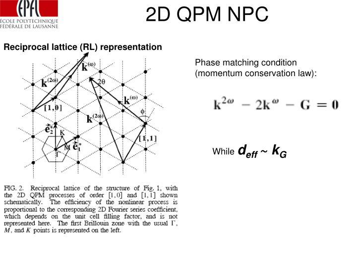 2D QPM NPC