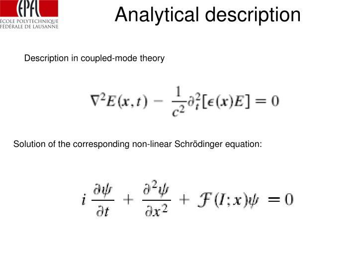 Analytical description