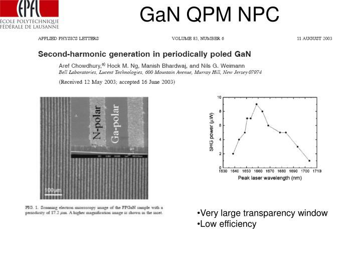 GaN QPM NPC