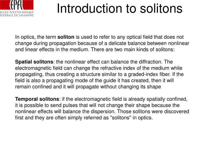 Introduction to solitons