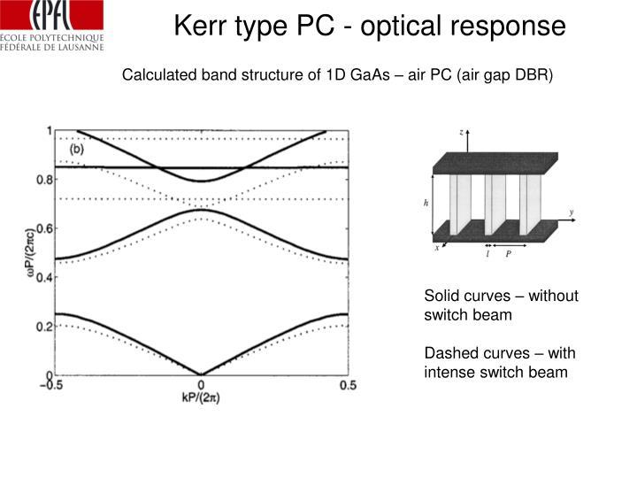 Kerr type PC - optical response