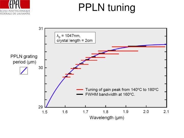 PPLN tuning