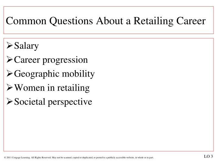 Common Questions About a Retailing Career
