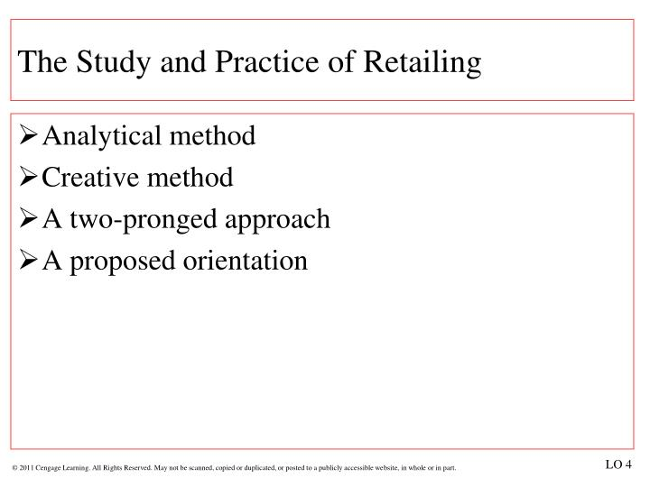 The Study and Practice of Retailing