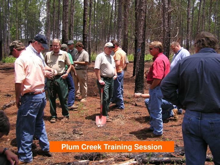 Plum Creek Training Session