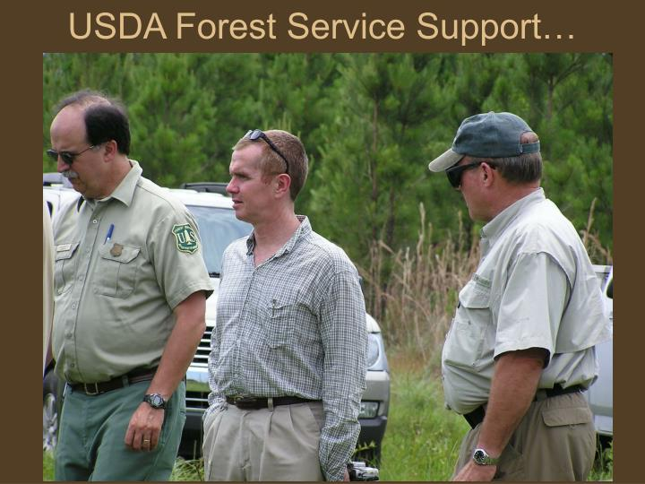 USDA Forest Service Support…