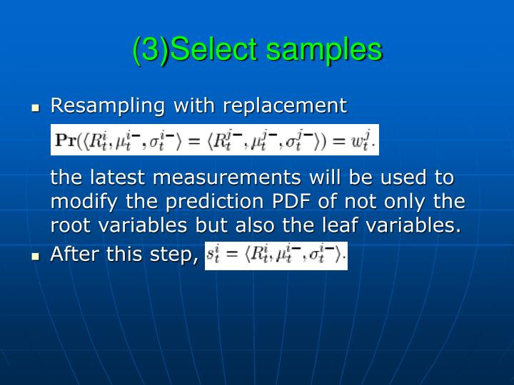(3)Select samples