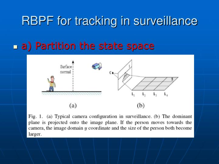RBPF for tracking in surveillance