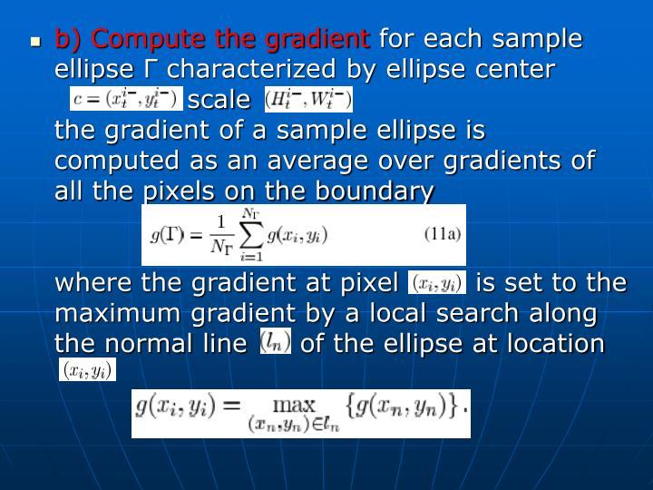 b) Compute the gradient