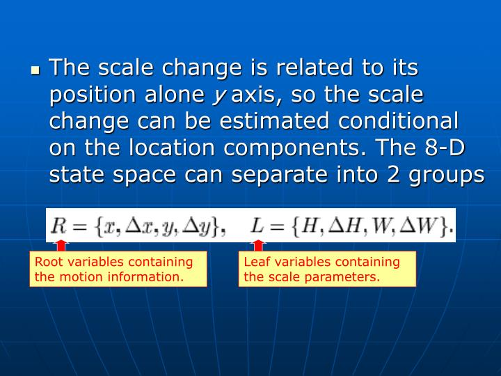 The scale change is related to its position alone