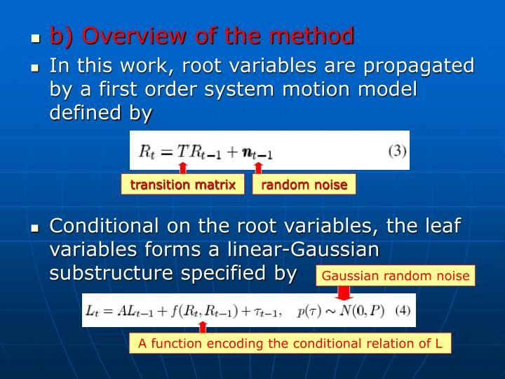 b) Overview of the method