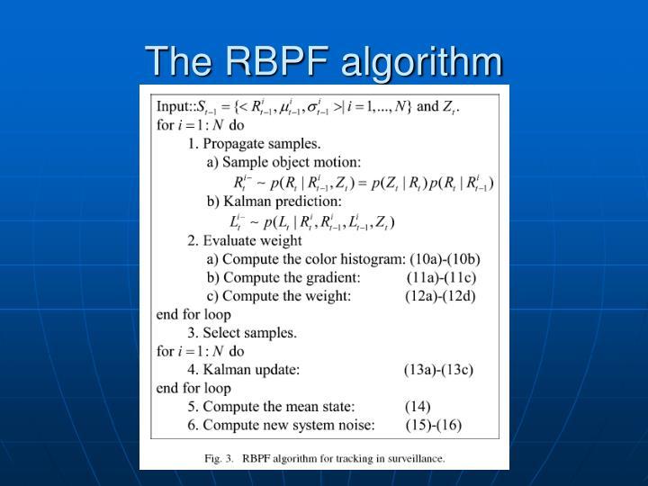 The RBPF algorithm