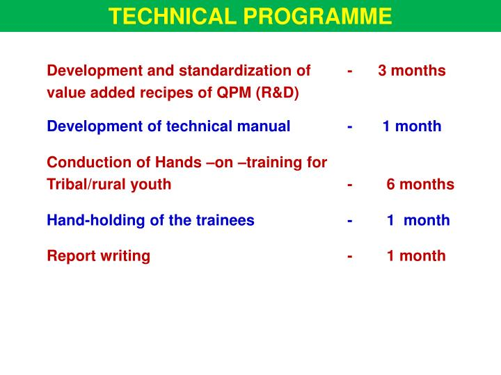 TECHNICAL PROGRAMME