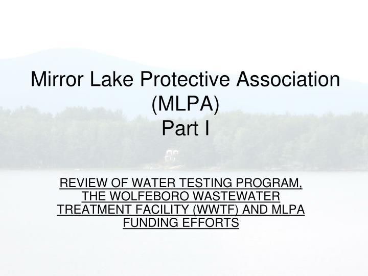 Mirror Lake Protective Association