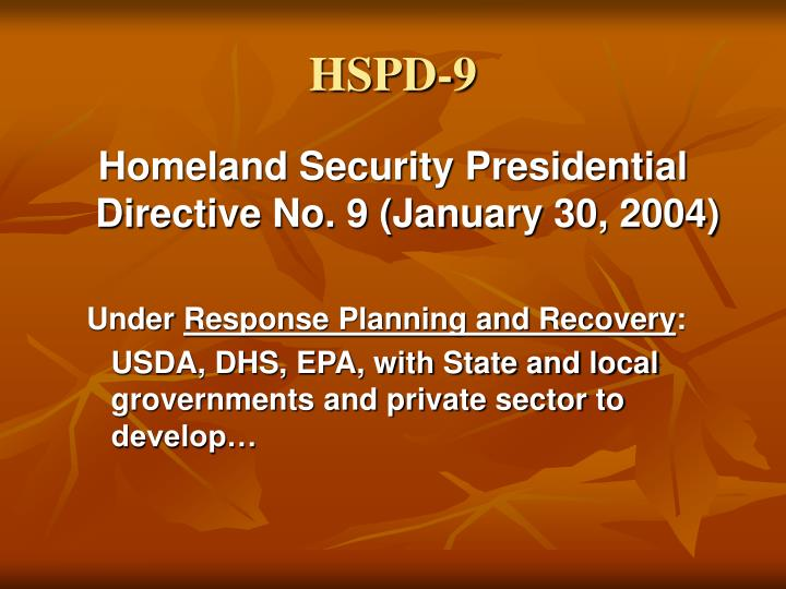 HSPD-9