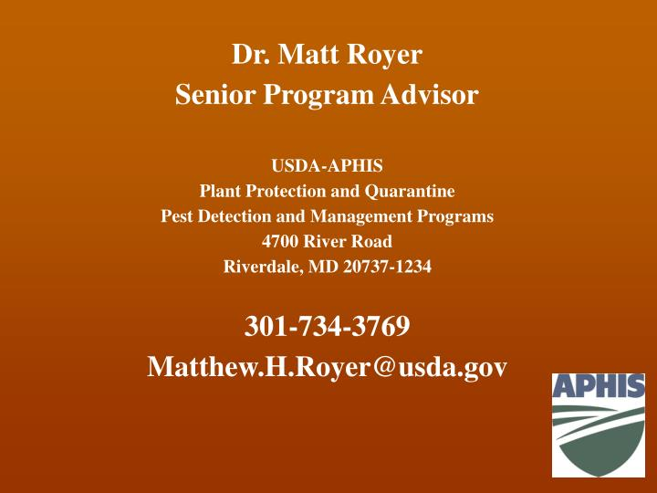 Dr. Matt Royer
