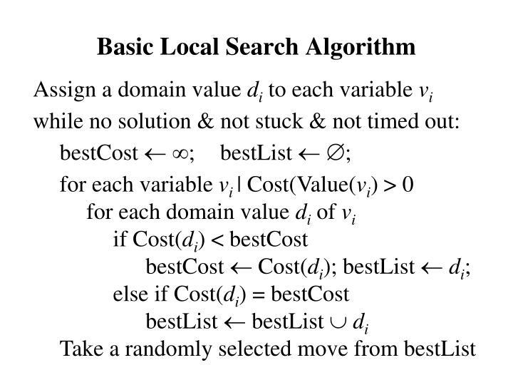 Basic Local Search Algorithm