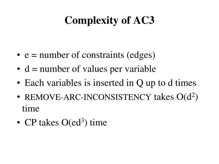 Complexity of AC3