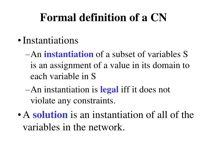 Formal definition of a CN