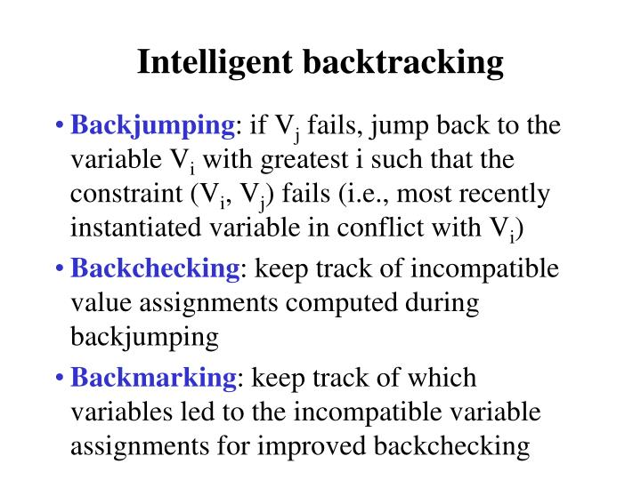 Intelligent backtracking