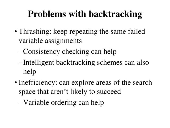 Problems with backtracking
