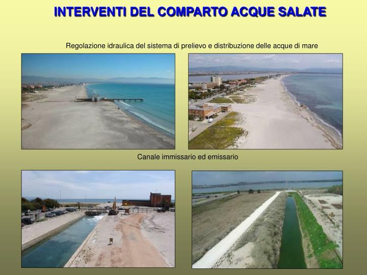 INTERVENTI DEL COMPARTO ACQUE SALATE