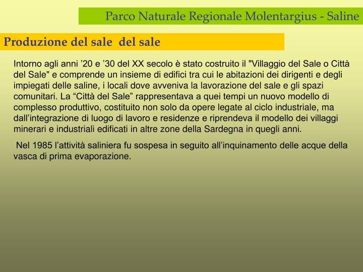Produzione del sale  del sale