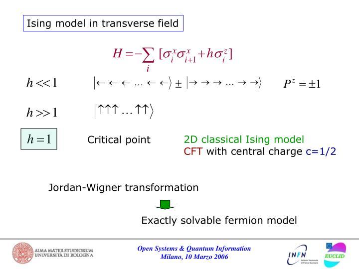 Ising model in transverse field
