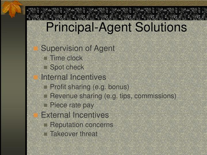 Principal-Agent Solutions