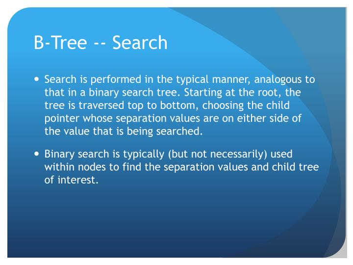 B-Tree -- Search
