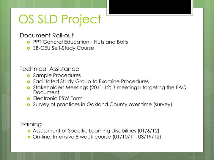 OS SLD Project