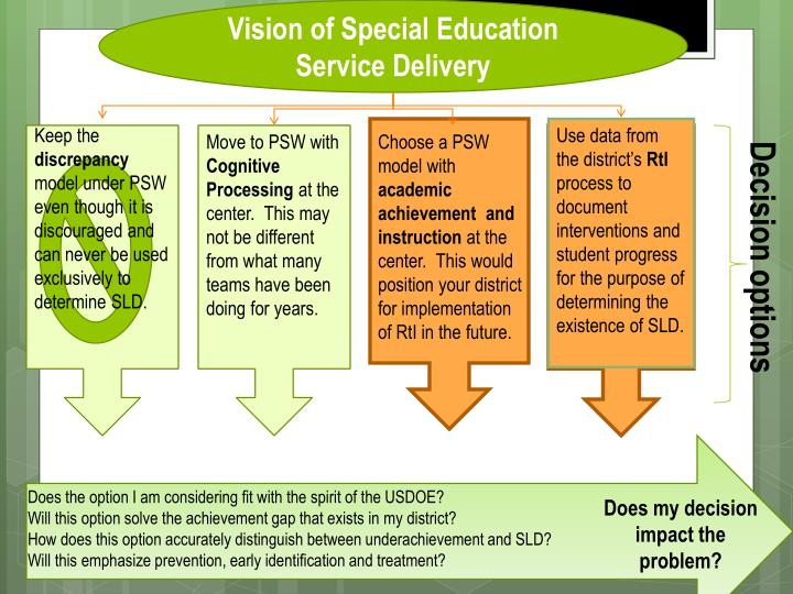 Vision of Special Education Service Delivery