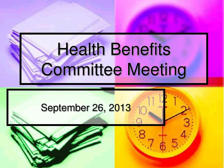 health benefits committee meeting