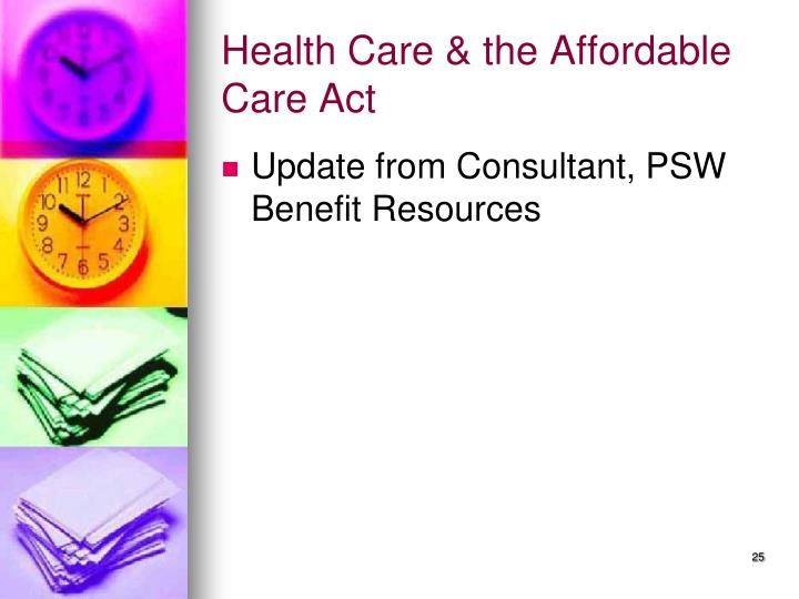 Health Care & the Affordable Care Act