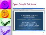 open benefit solutions