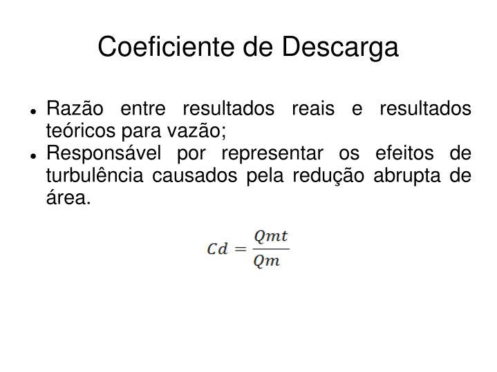 Coeficiente de Descarga