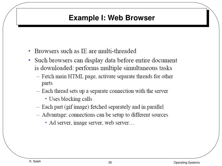 Example I: Web Browser
