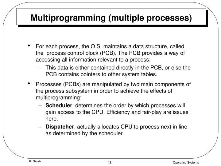 Multiprogramming (multiple processes)