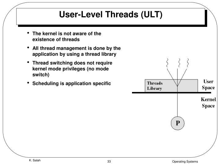 User-Level Threads (ULT)