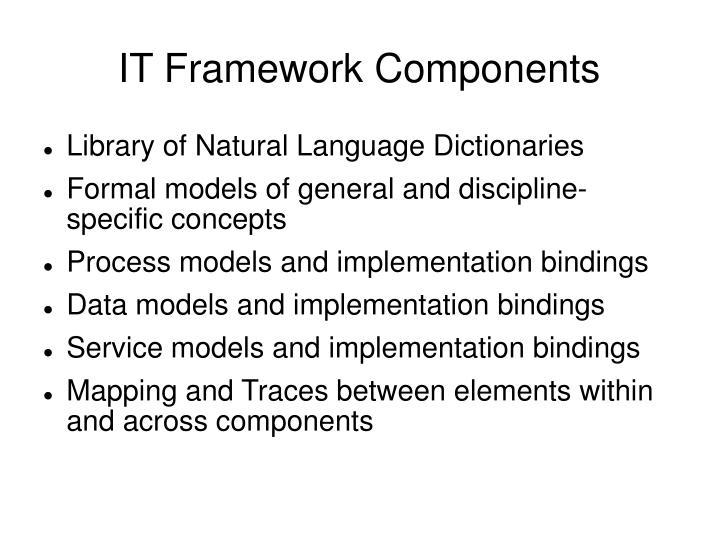 IT Framework Components