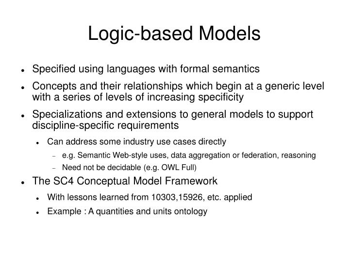 Logic-based Models