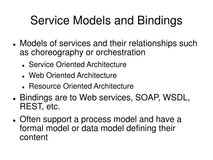 Service Models and Bindings
