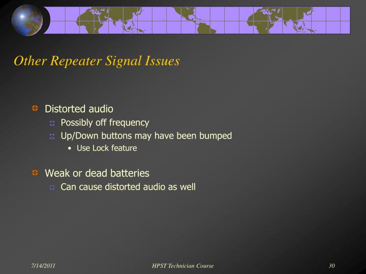 Other Repeater Signal Issues